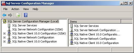 SQL Server Configuration Manager for Kronos