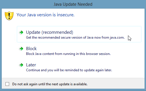 Kronos and the Mandatory Java Update: Does it Affect You?