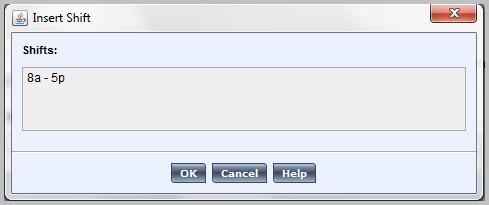 Insert shift in Kronos WorkForce scheduler