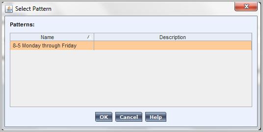 Insert pattern in Kronos WorkForce scheduler
