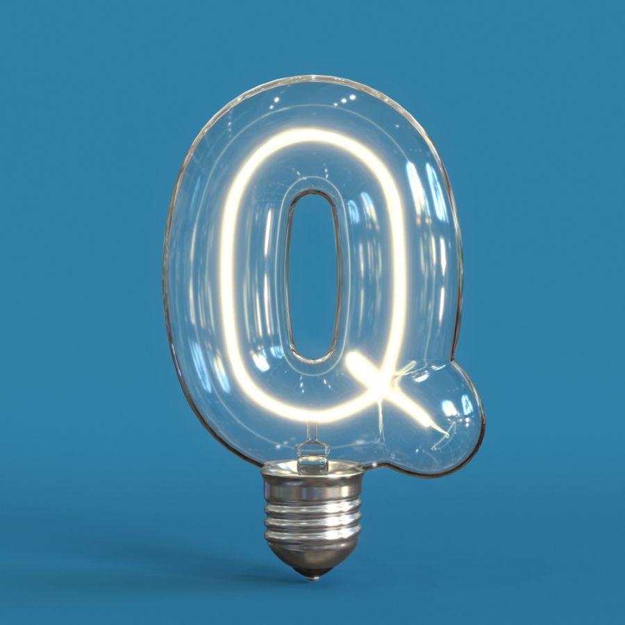 Q Shaped Light Bulb